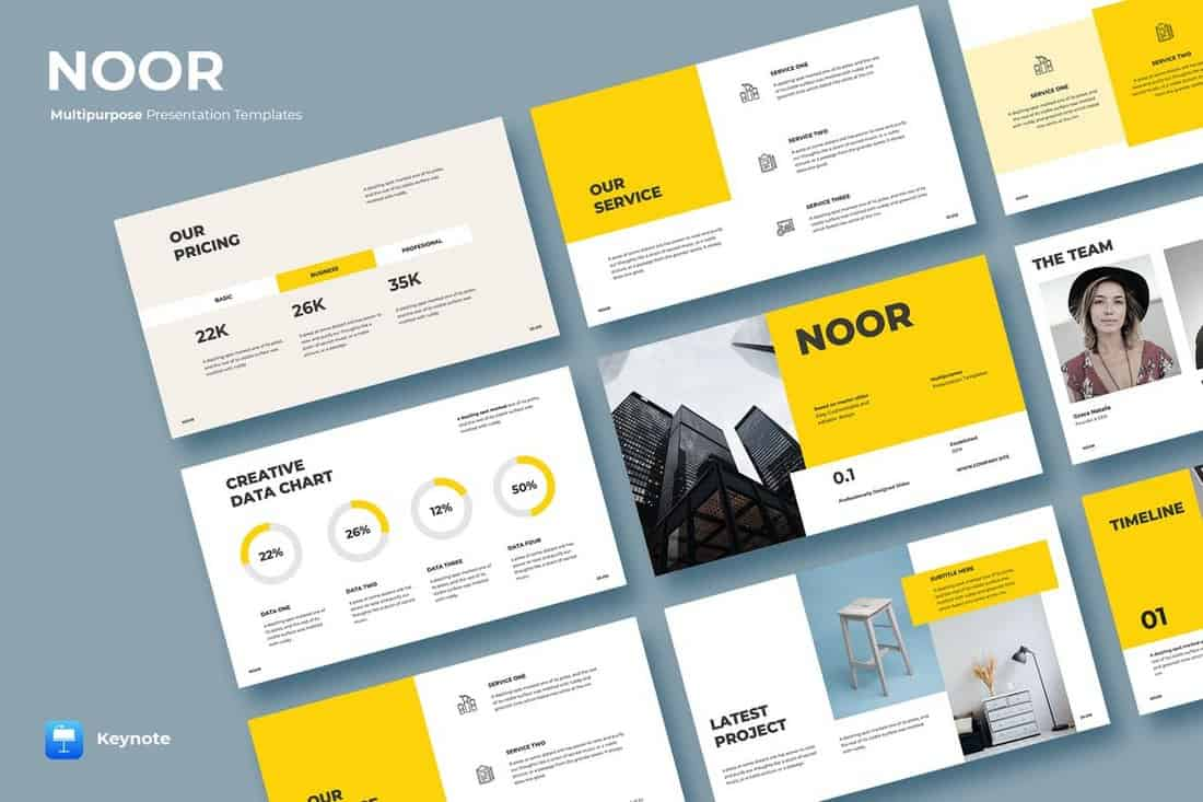 NOOR - Creative Keynote Templates