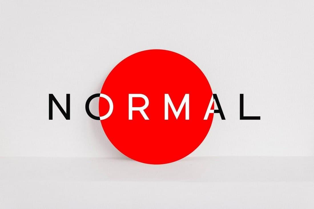 NORMAL Minimal Sans Serif Font