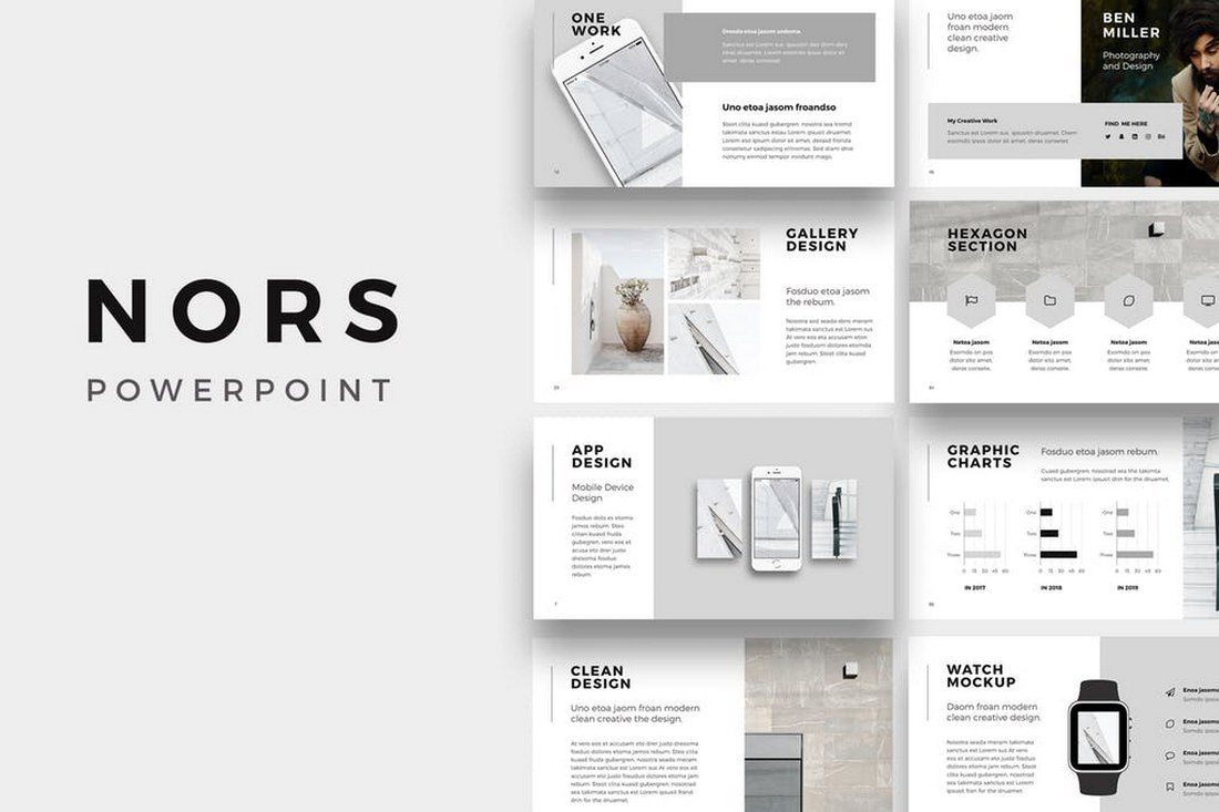 60 beautiful premium powerpoint presentation templates design shack nors powerpoint template toneelgroepblik Choice Image