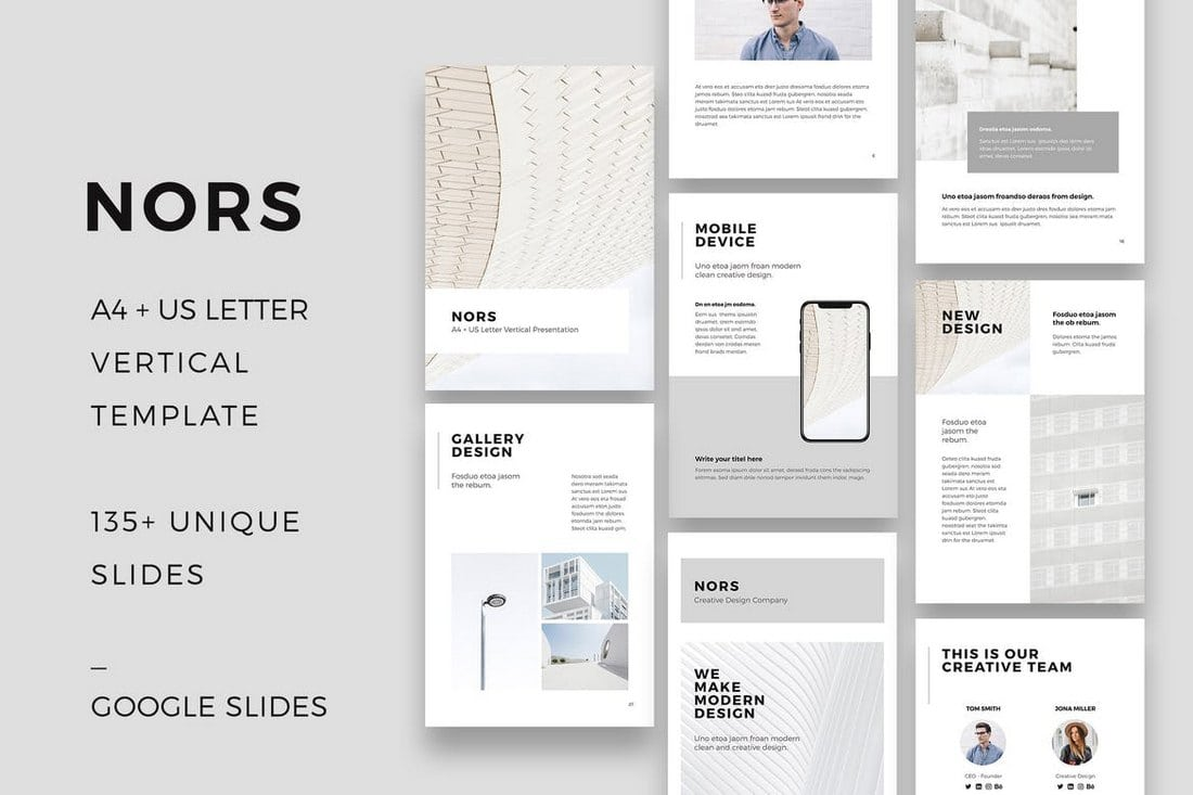 NORS - Vertical Google Slides Template