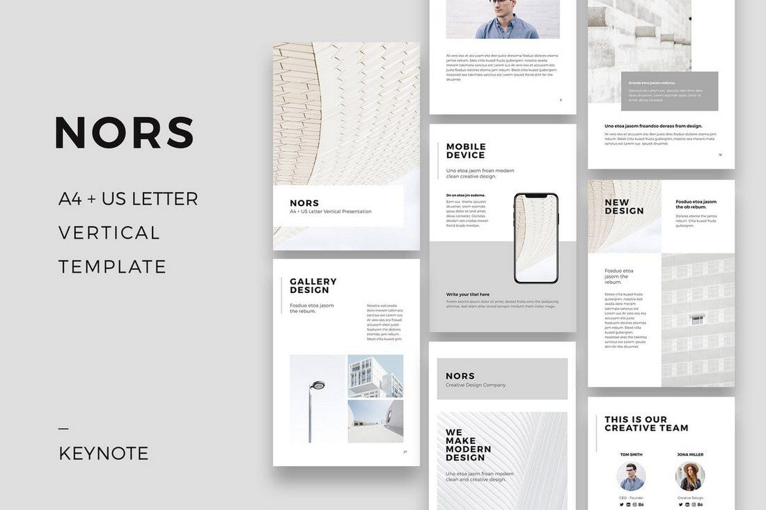 NORS-Vertical-Keynote-Template 30+ Best Minimal & Creative Keynote Templates design tips