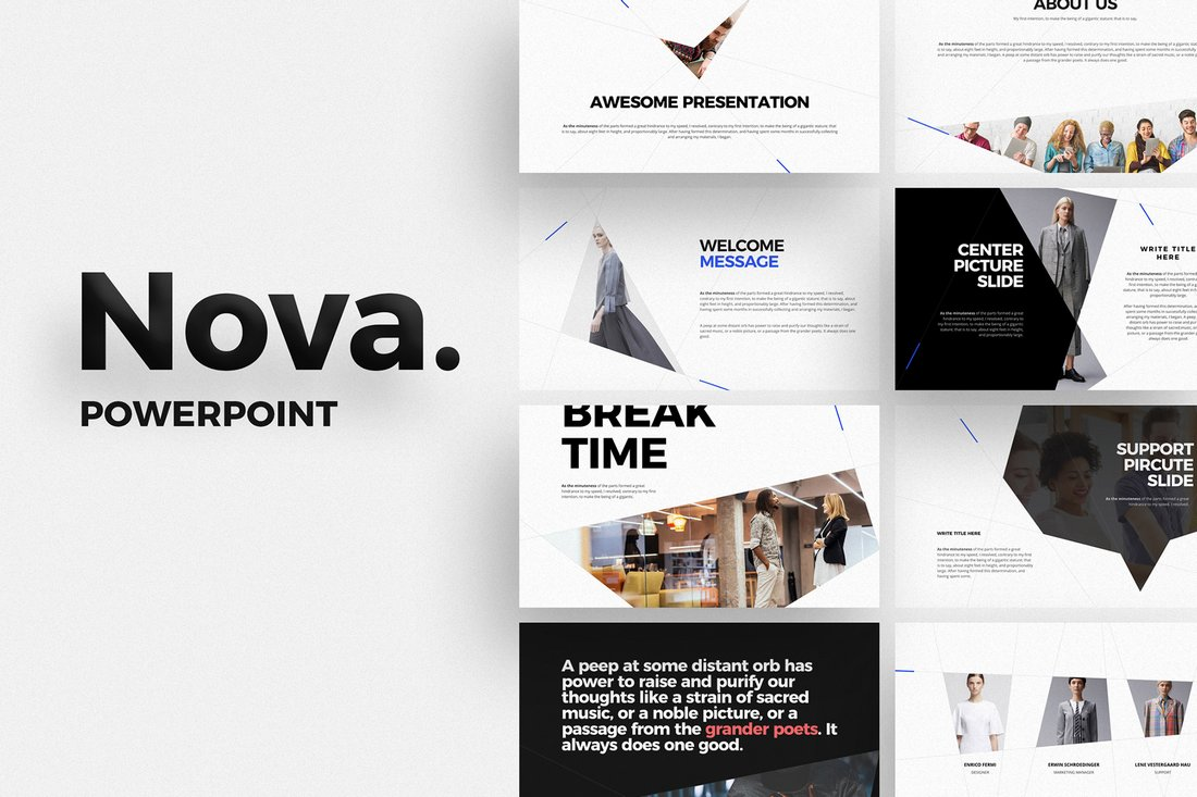 NOVA - Free Keynote Presentation Template