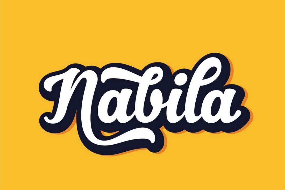 Nabila - Playful T-Shirt Typeface