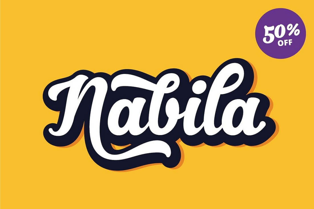 Nabila 100+ Beautiful Script, Brush & Calligraphy Fonts design tips
