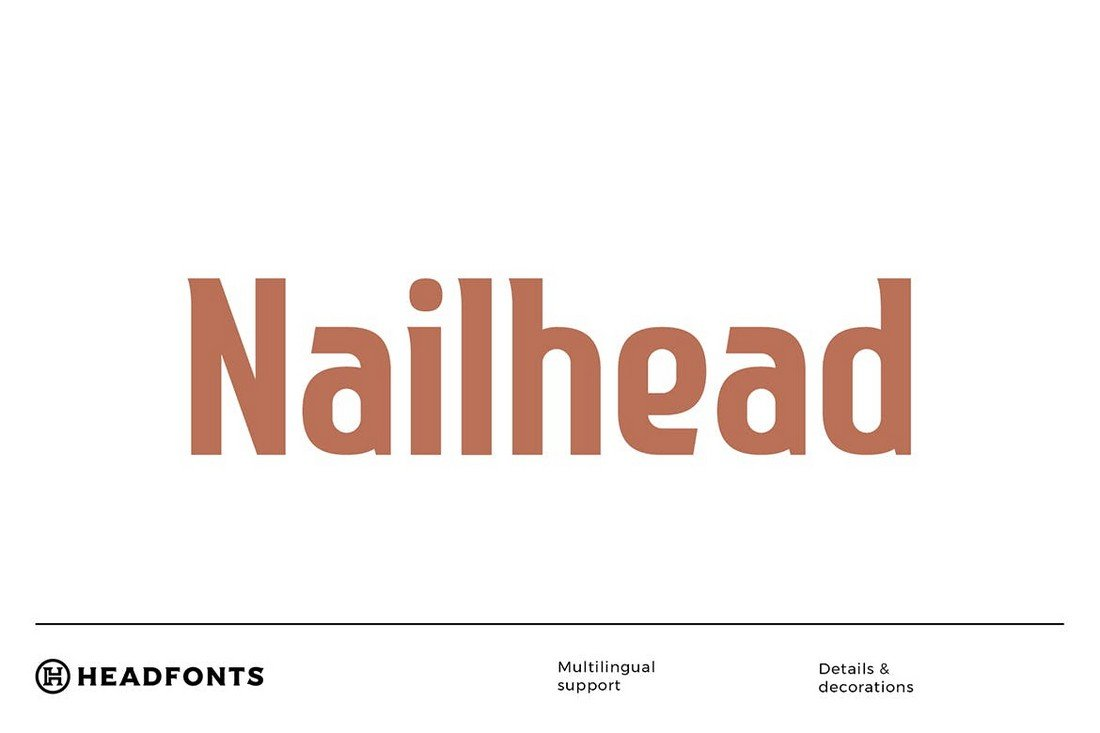 Nailhead-Bold-Modern-Condensed-Font 50+ Best Condensed & Narrow Fonts of 2020 design tips