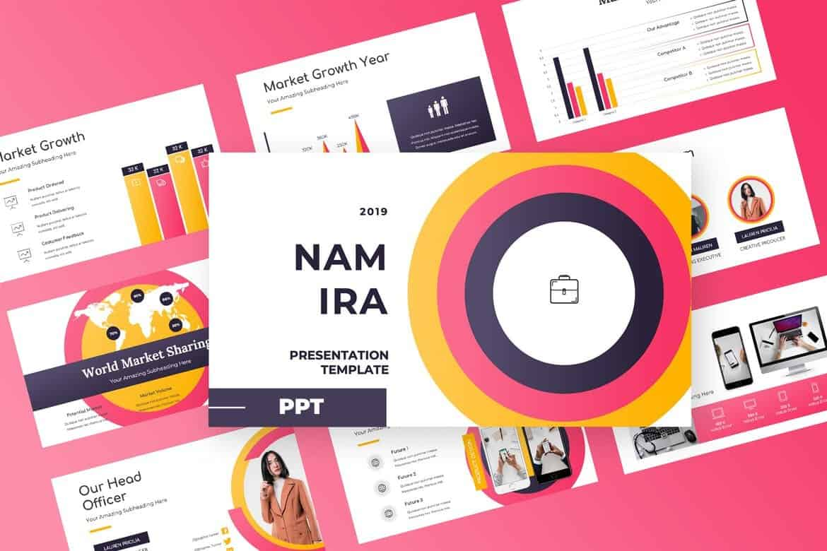 Namira - Colorful Powerpoint Presentation
