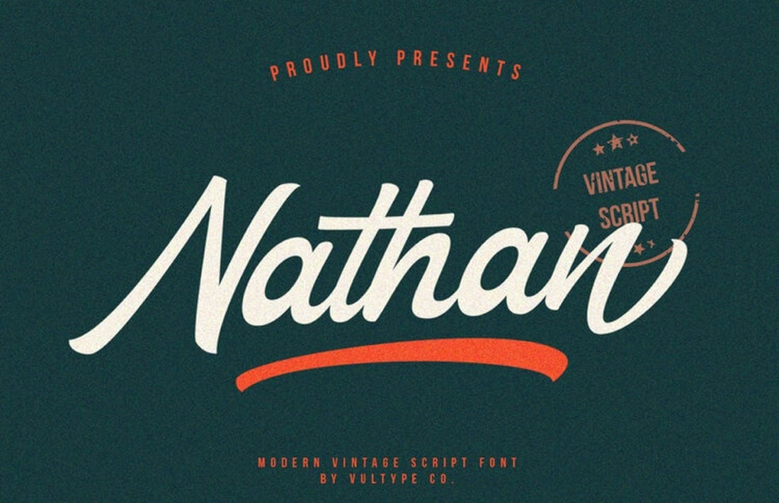 Nathan-Free-Vintage-Handwritten-Font 50+ Best Hand Lettering & Handwriting Fonts 2021 design tips