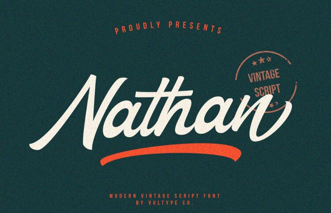 Nathan-Free-Vintage-Script-Font 60+ Best Free Fonts for Designers 2020 (Serif, Script & Sans Serif) design tips