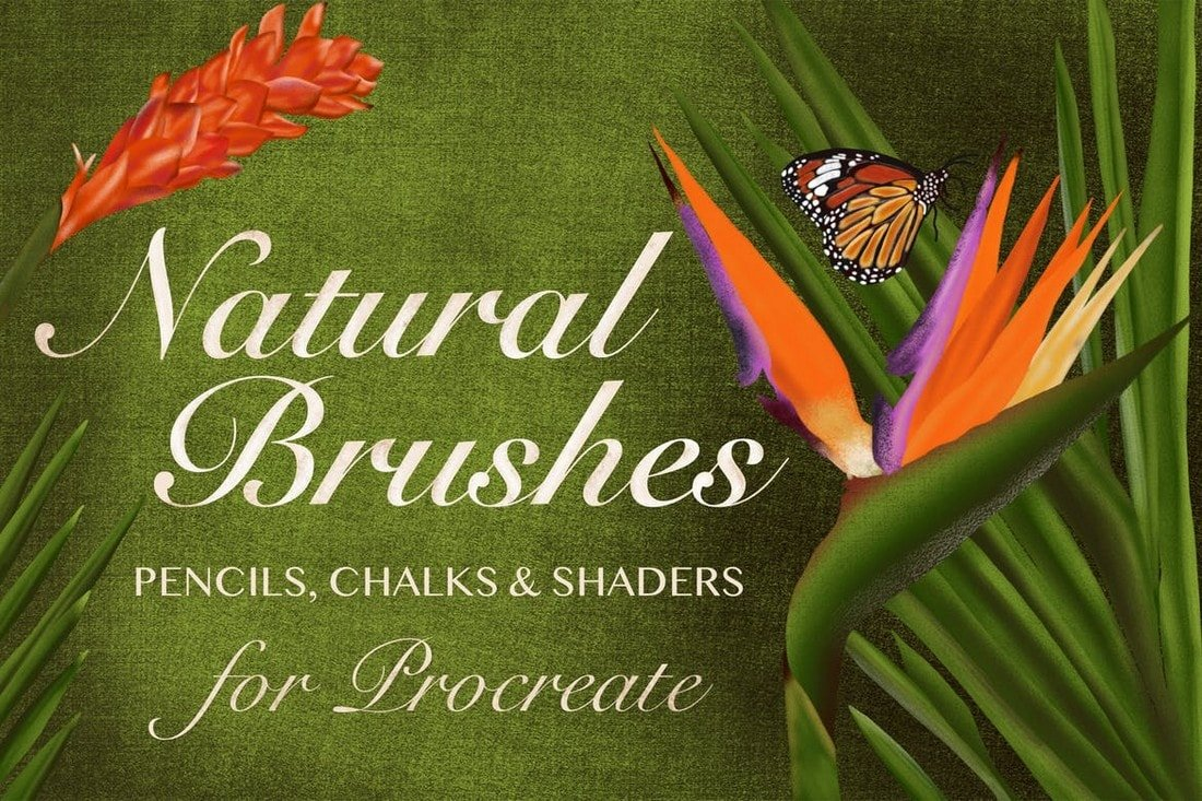 Natural-Shader-Pencil-Brushes-for-Procreate 30+ Best Procreate Brushes 2020 (Free & Pro) design tips