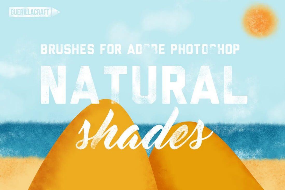 Natural-Shades-Brushes 30+ Best High-Quality Photoshop & Illustrator Brushes design tips