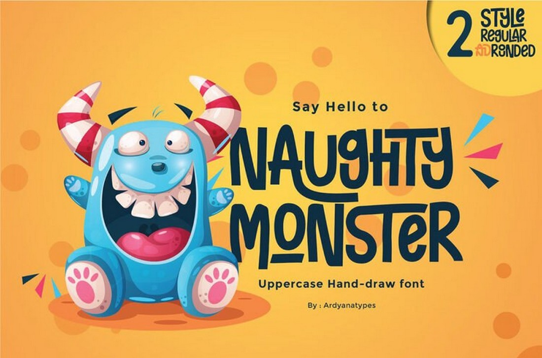 Naughty Monster - Free Fun Hand-Drawn Font