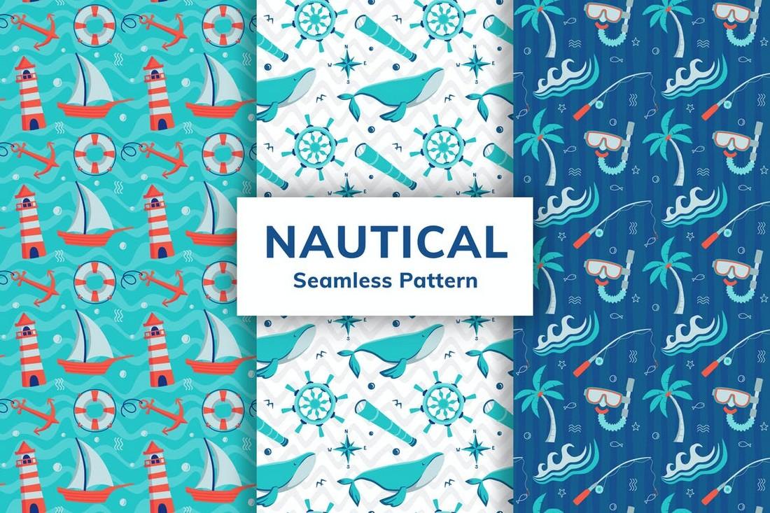 Nautical Seamless Patterns