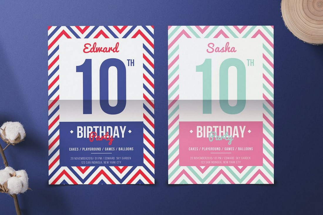 Navy Birthday Party Flyer Template
