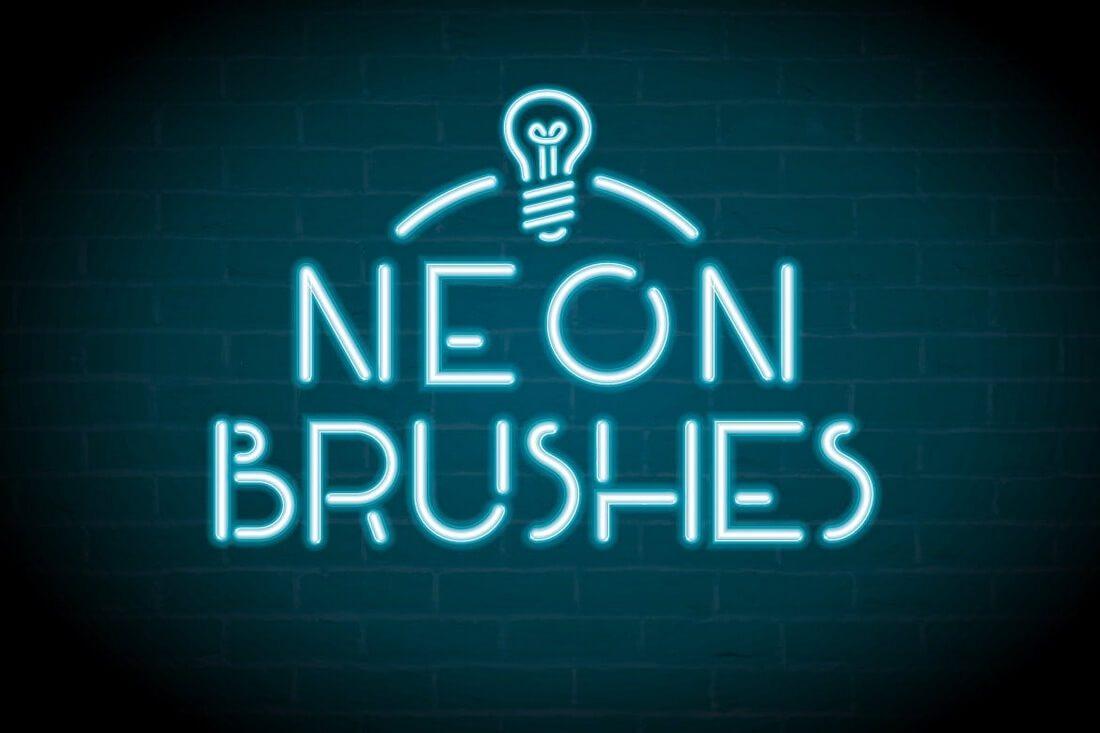 Neon-Brushes 30+ Best High-Quality Photoshop & Illustrator Brushes design tips