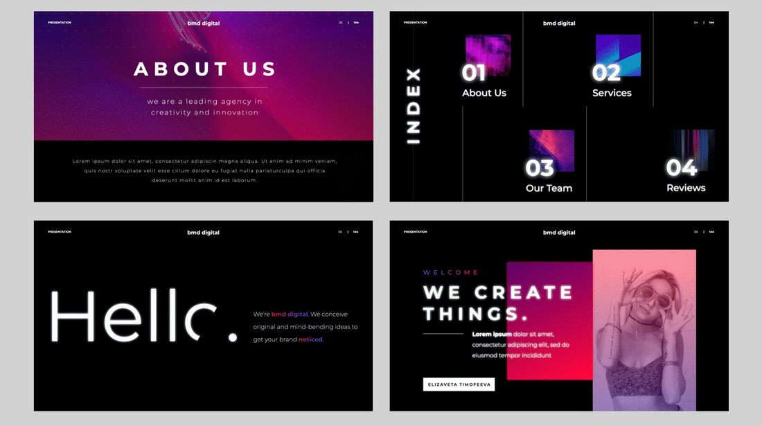 Neon - Free Modern Keynote Template