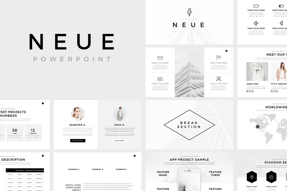 Neue-Free-Minimal-PowerPoint-Template 50+ Best Free PowerPoint Templates 2020 design tips