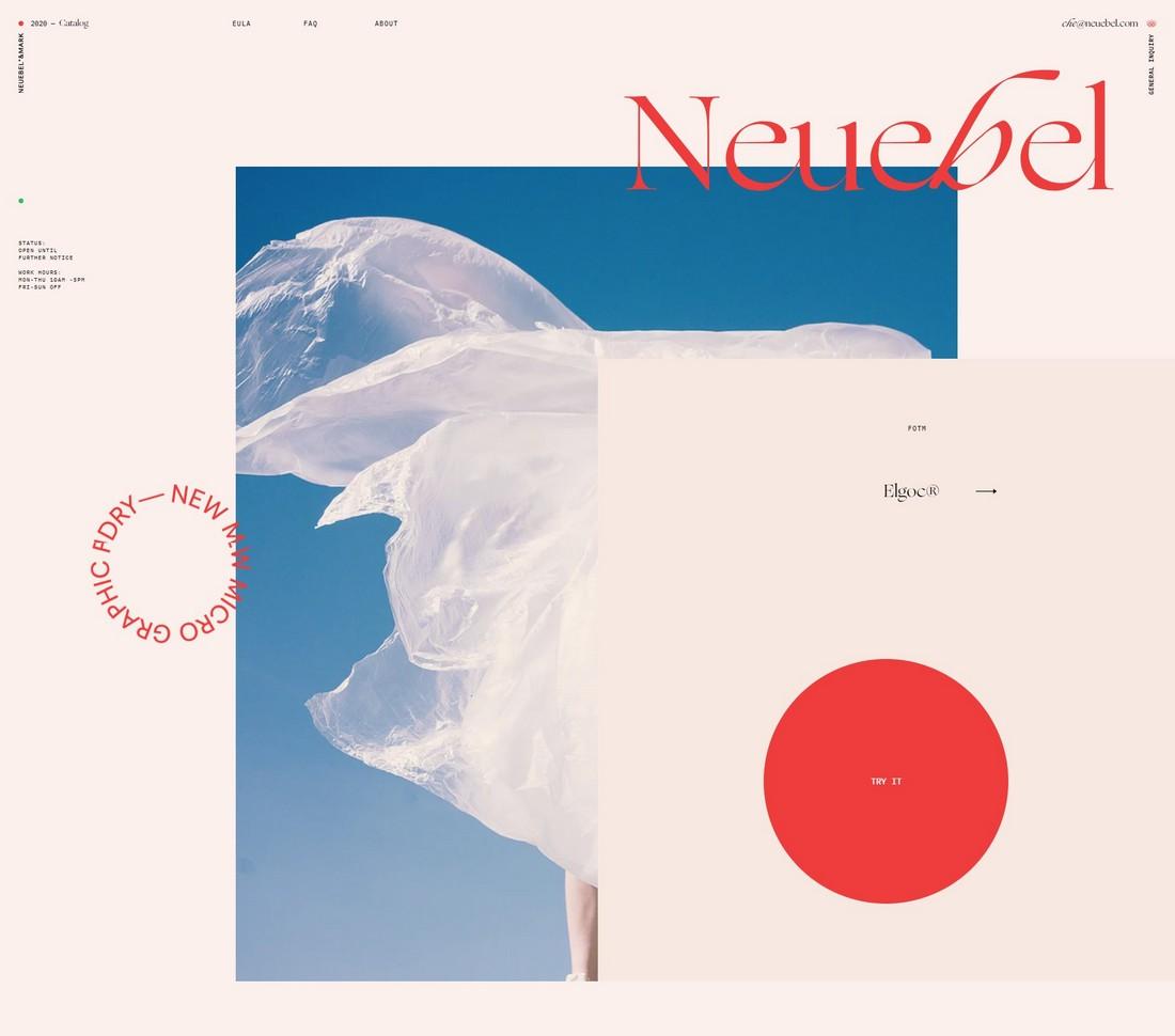 NeuebelMark 10 Best Graphic Design Portfolio Examples + Templates design tips
