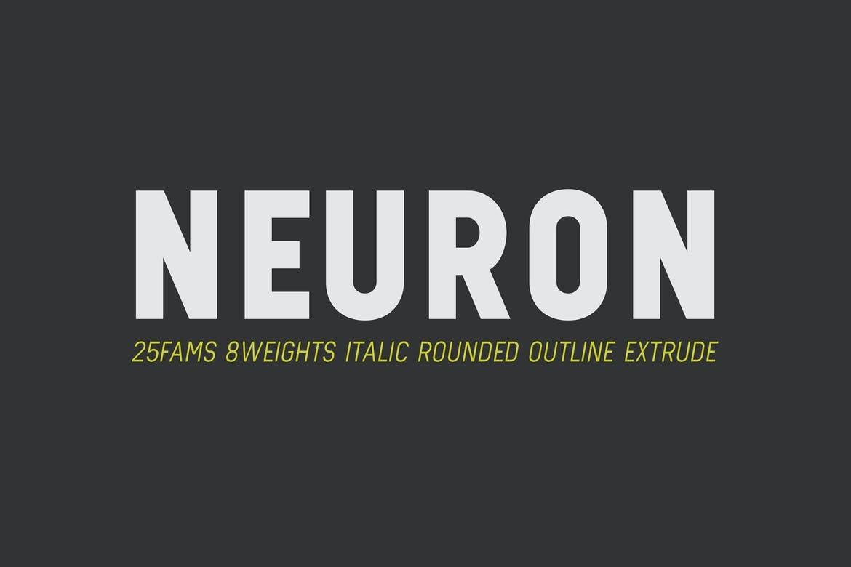 Neuron - Block Letter Font Family