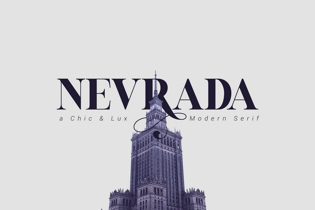 Nevrada-Free-serif-Font 60+ Best Free Fonts for Designers 2020 (Serif, Script & Sans Serif) design tips