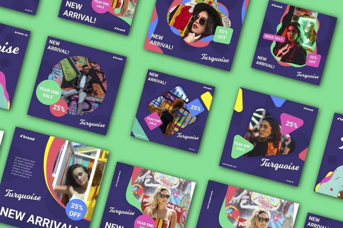 New Arrival Turquaise - Social Media Banner Kit