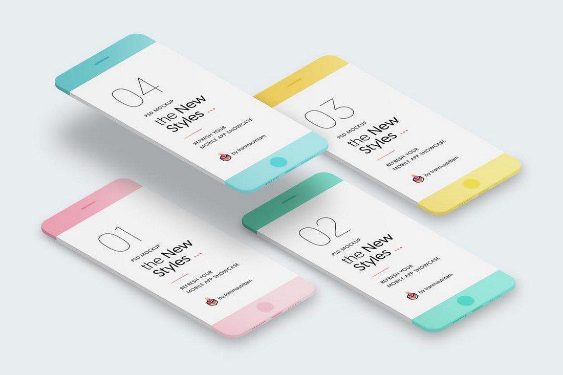 New-Minimalistic-Phone-Mockups 20+ Best Responsive Website & App Mockup Templates design tips