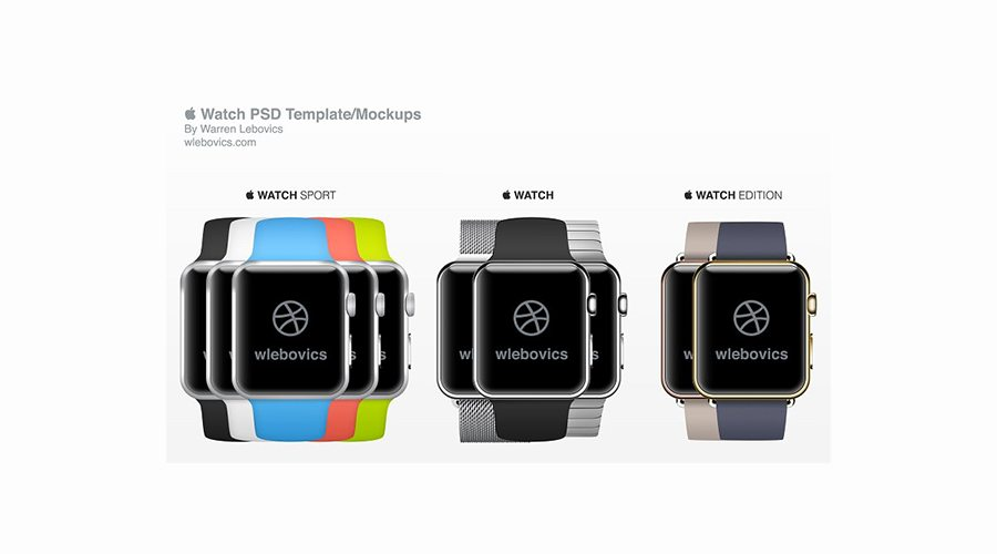 New-Watch-PSD-Template 50+ Apple Watch Mockups & Graphics design tips