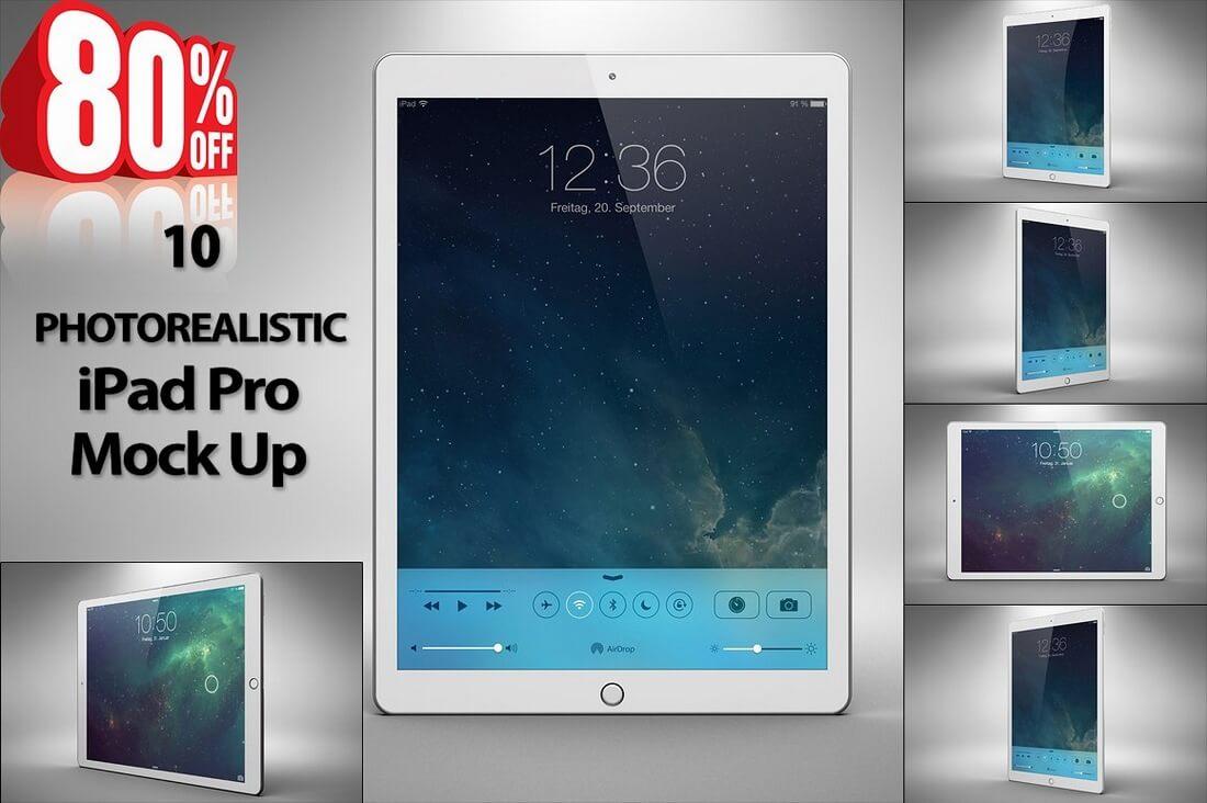 New-iPad-Pro-Mock-Up-BUNDLE 100+ iPad Mockups: PSDs, Photos & Vectors design tips