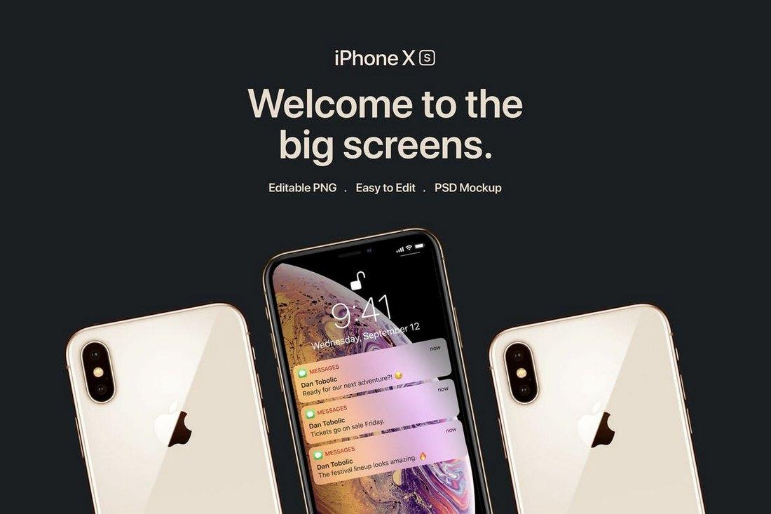 New-iPhone-XS-Mockups 10+ Best iPhone XS, XS Max & XR Mockups design tips