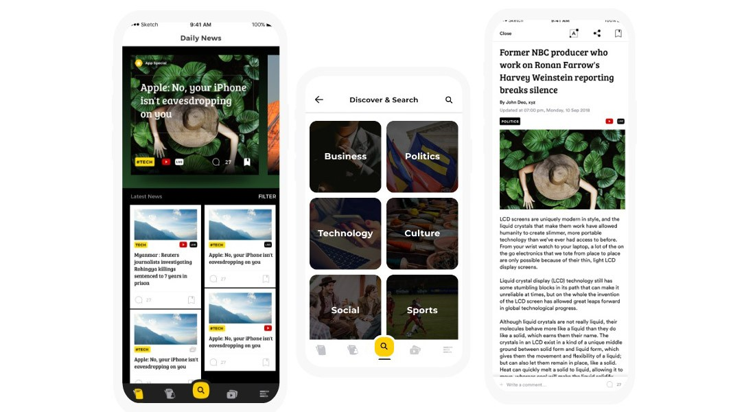 NewsApp-News-Blog-Android-App-Template 20+ Best Android App Templates (For Mobile Apps) 2021 design tips