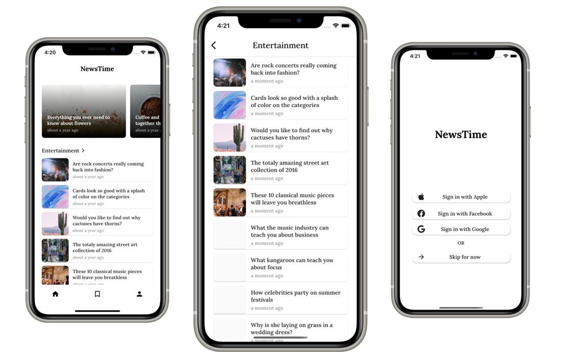 NewsTime - Flutter News App for WordPress