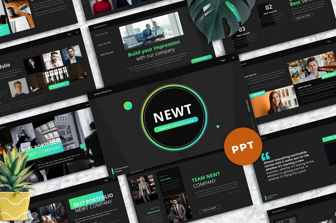 Newt - Company Profile Powerpoint Template