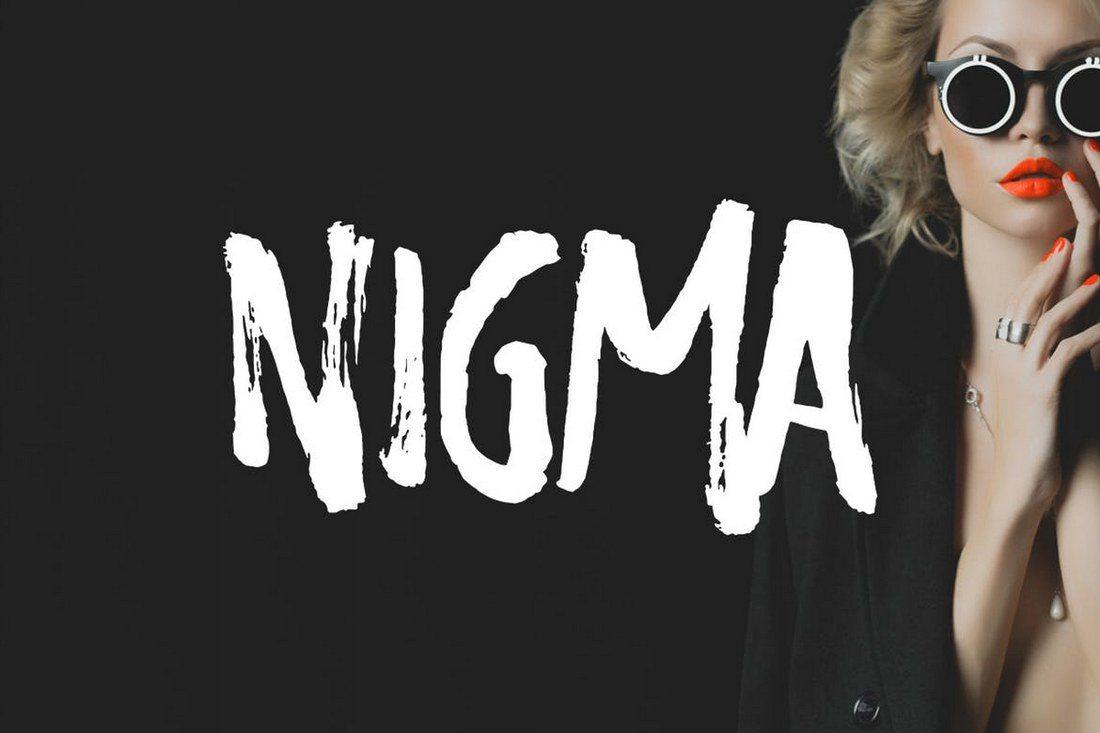 Nigma-Brush-Font 60+ Best Big, Poster Fonts of 2019 design tips