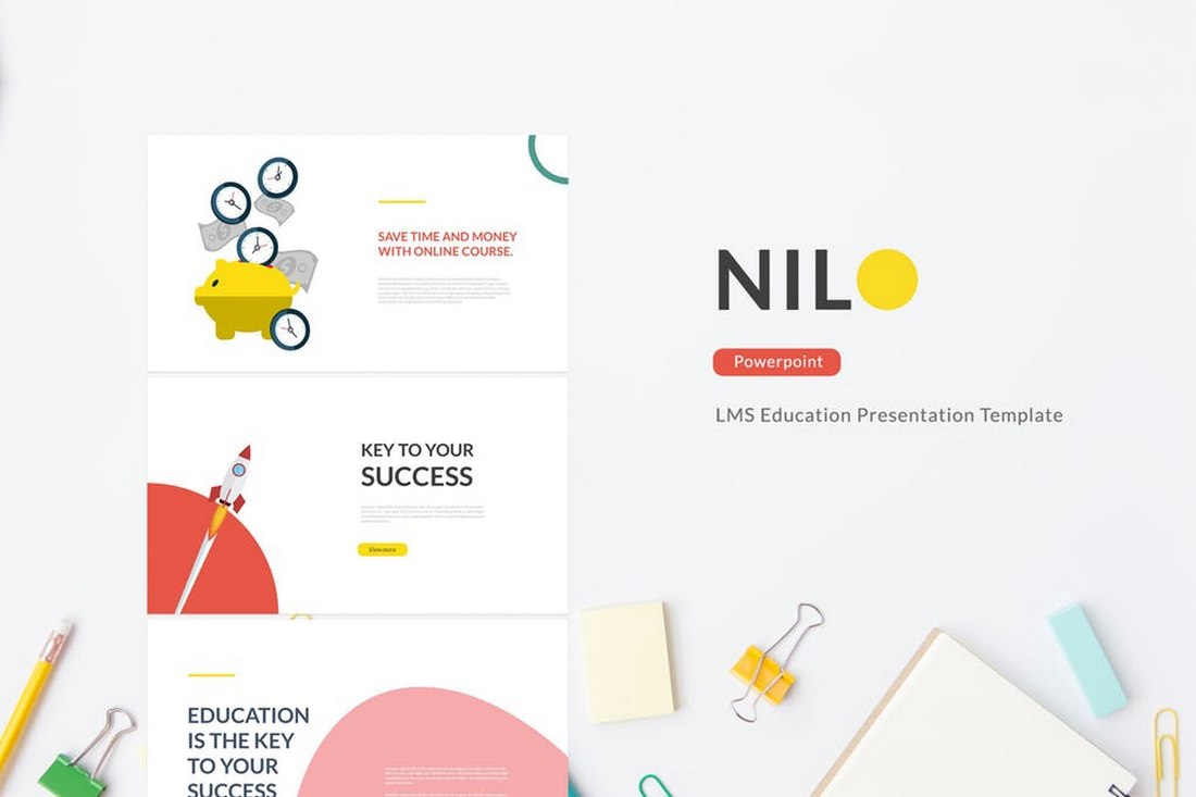 Nilo - LMS Education Powerpoint Template