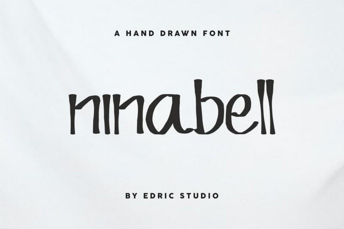 Ninabell - Free Hand Drawn Font