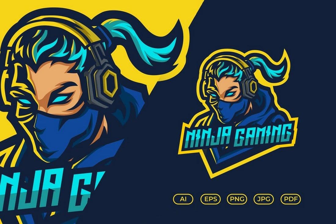 Ninja Gaming eSport Logo Template