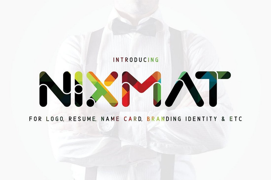 Nixmat-Brand-Identity-Font 30+ Best Fonts for Logo Design design tips