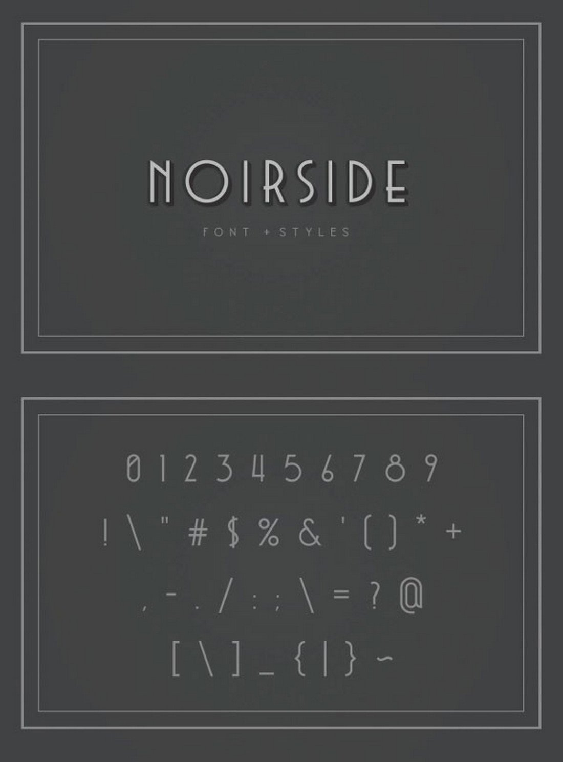 Noirside-Typeface 40+ Best Number Fonts for Displaying Numbers design tips