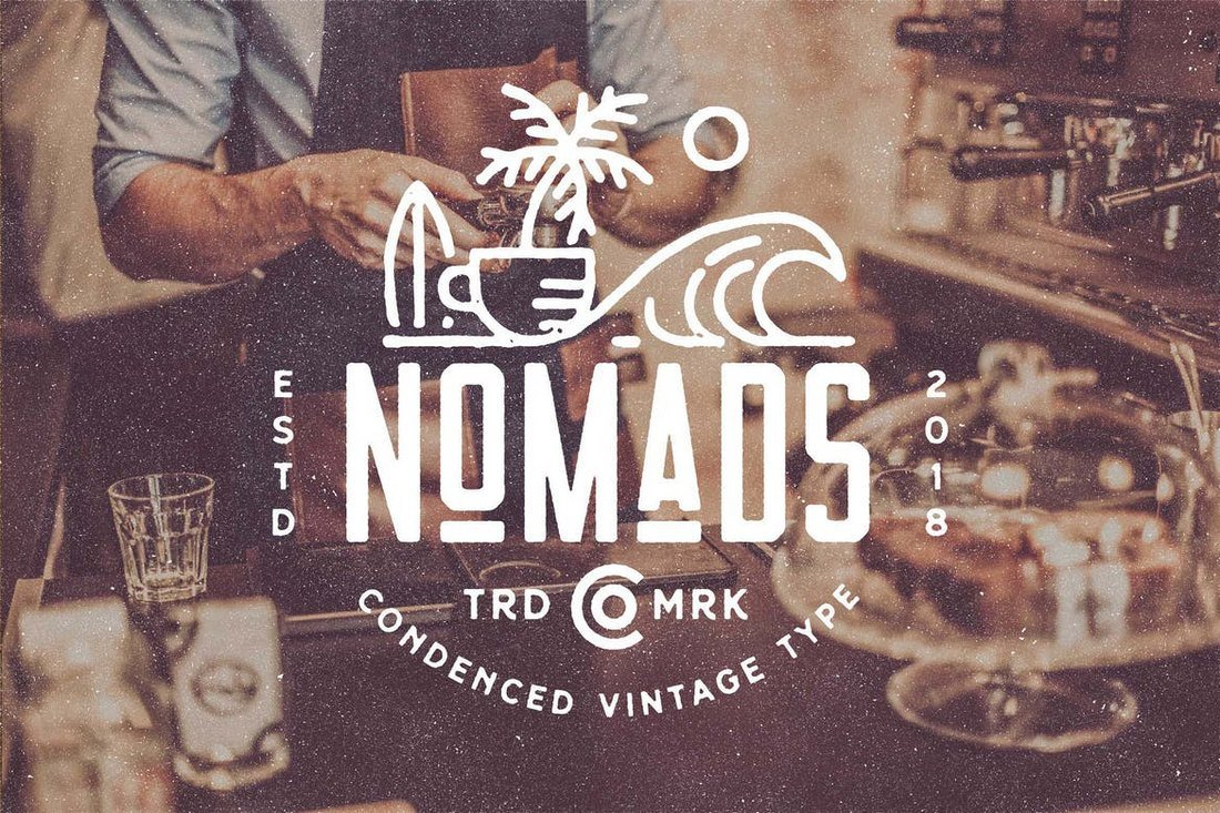 Nomads - The Farmer Original Typeface