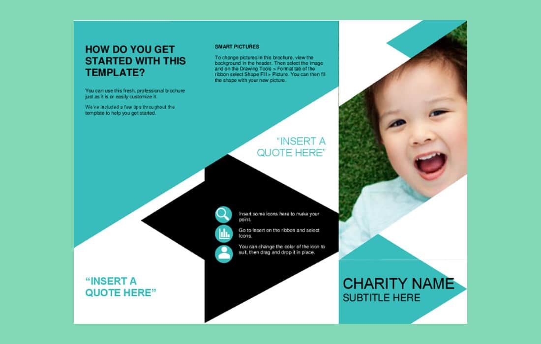 Nonprofit Word Brochure Template