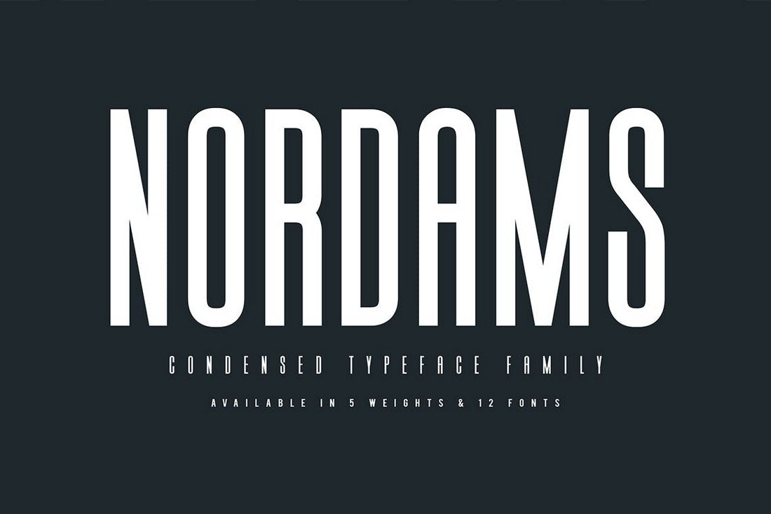 Nordams-Narrow-Font 40+ Best Condensed & Narrow Fonts of 2019 design tips