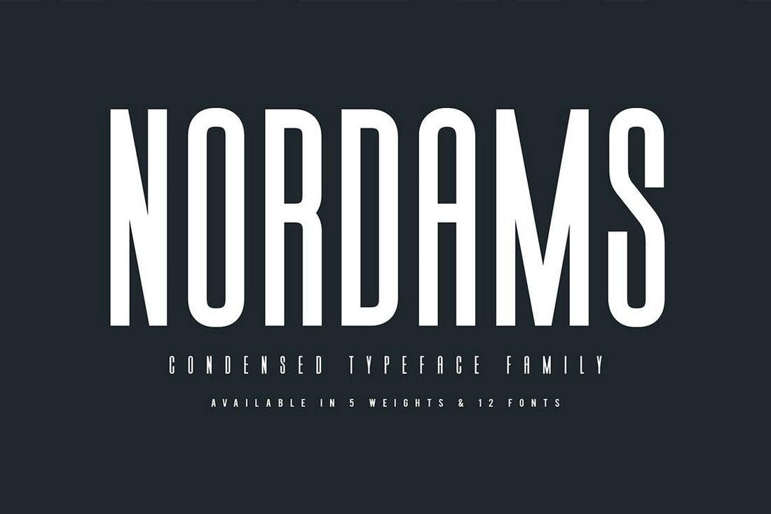 Nordams - Narrow Font