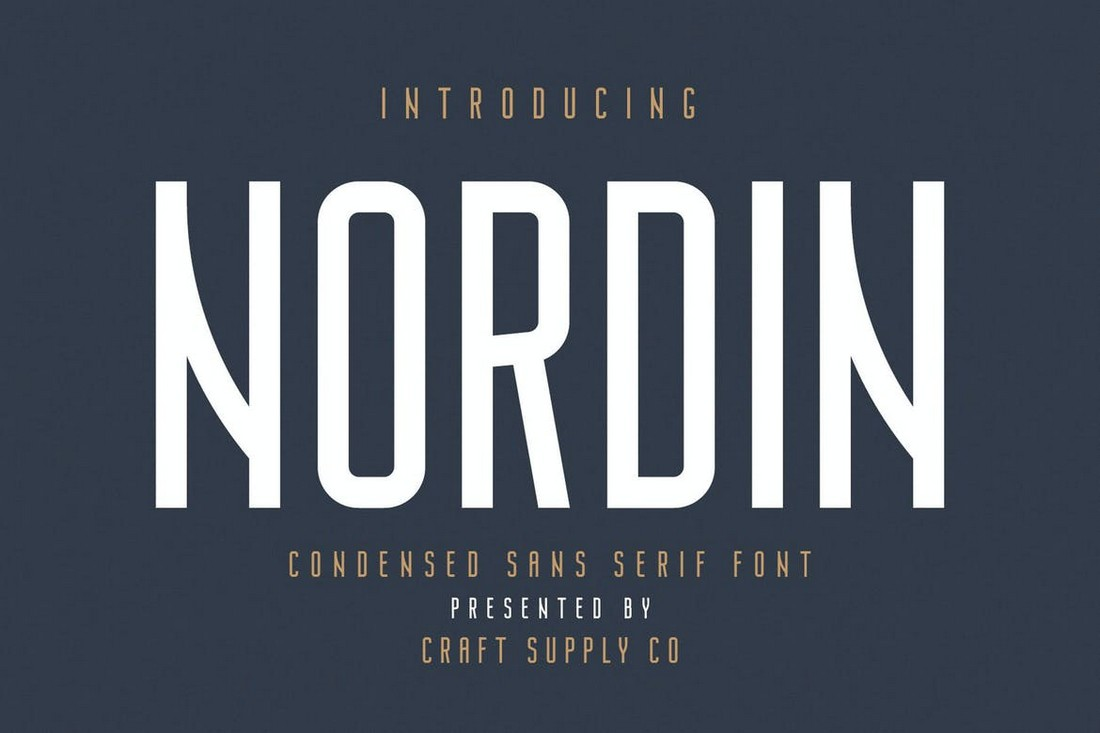 Nordin-Condensed-Sans-Serif-Font 50+ Best Condensed & Narrow Fonts of 2020 design tips