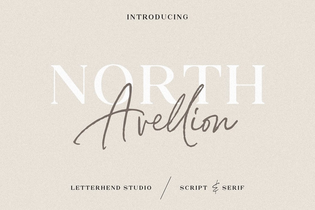North Avellion - Free Font Duo