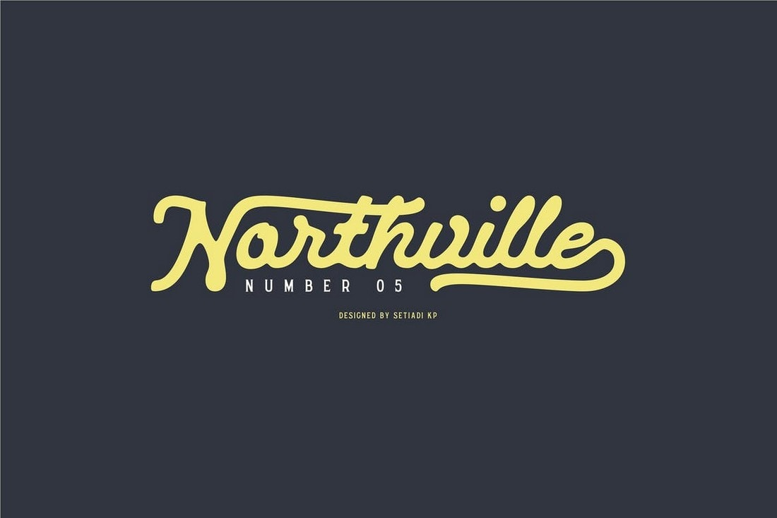 Northville - Unique Handwritten Font