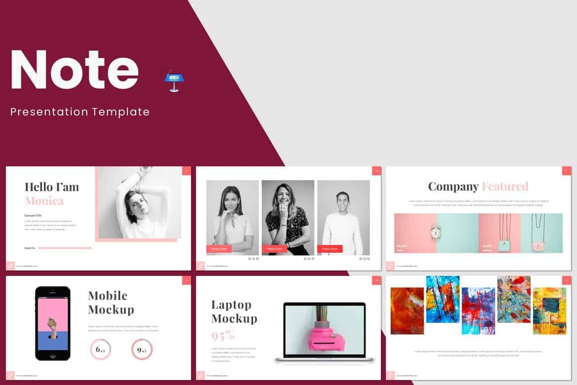 Note-Minimal-Keynote-Template 50+ Best Keynote Templates of 2020 design tips  Inspiration|keynote|powerpoint|presentation