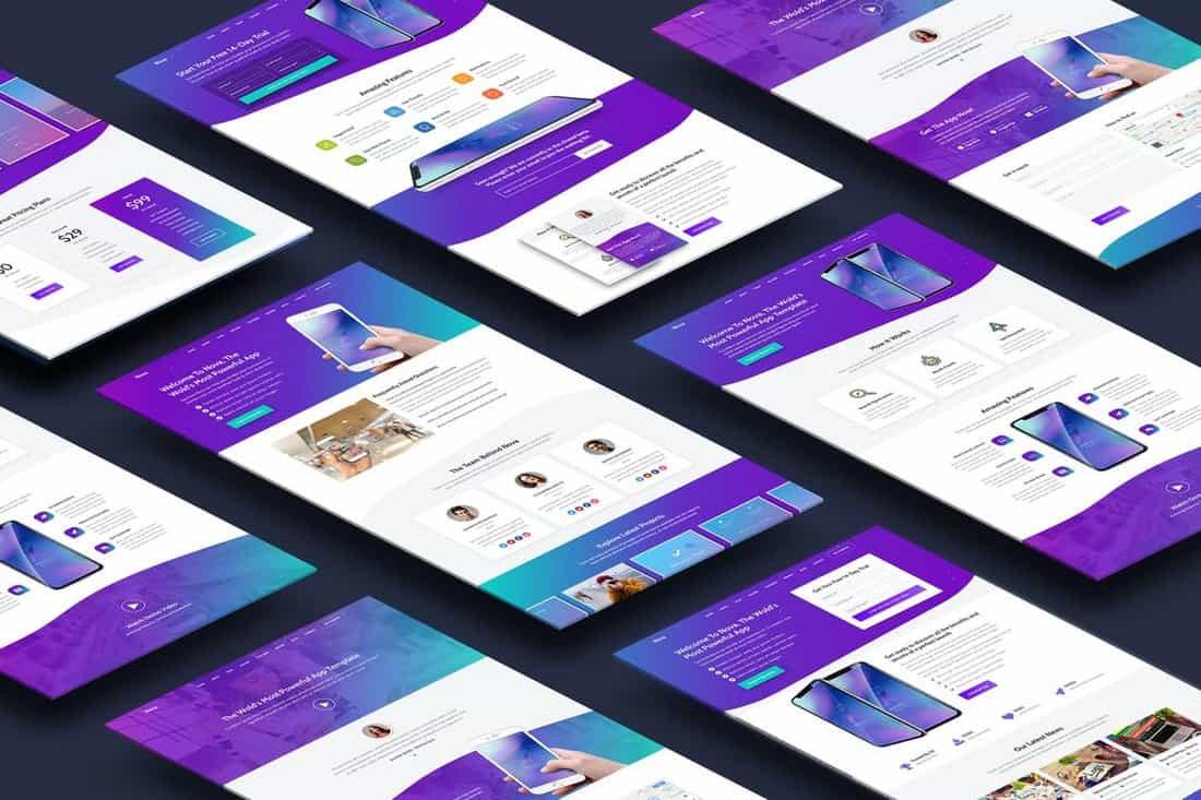 Nova-Premium-App-Landing-Page-Template 50+ Best App Landing Page Templates 2021 design tips