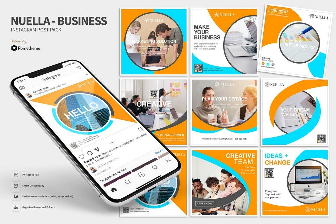Nuella - Business Instagram Post Templates