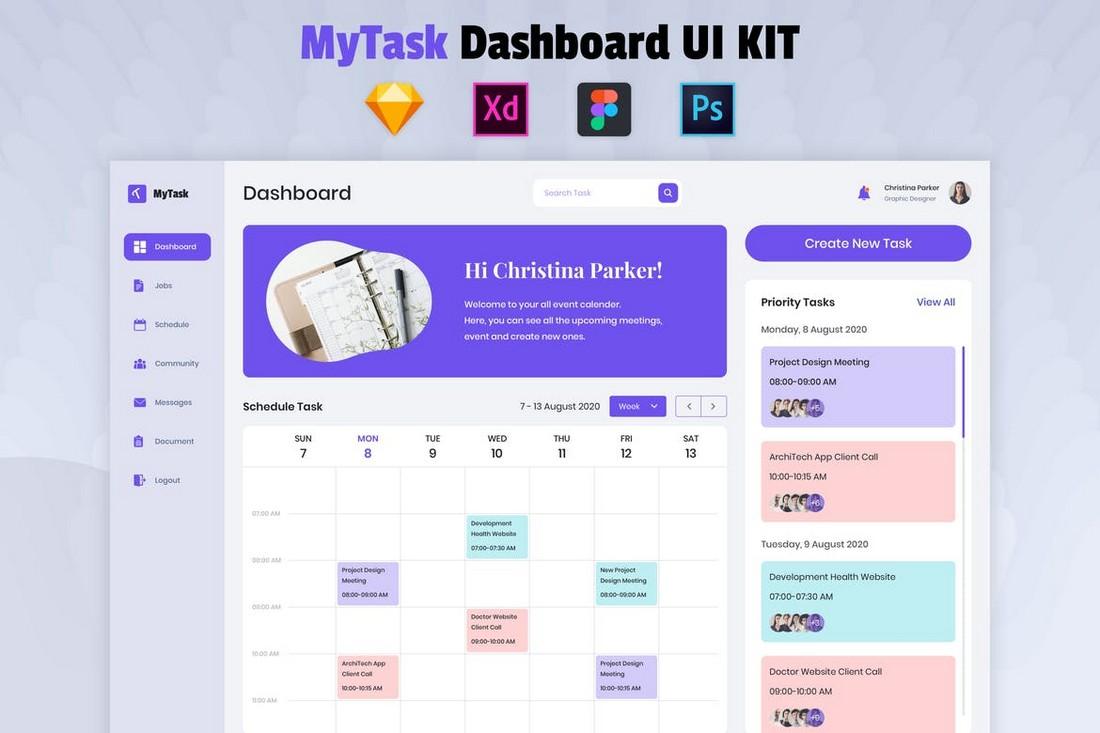 Nuzie - Task Management Dashboard Figma Template