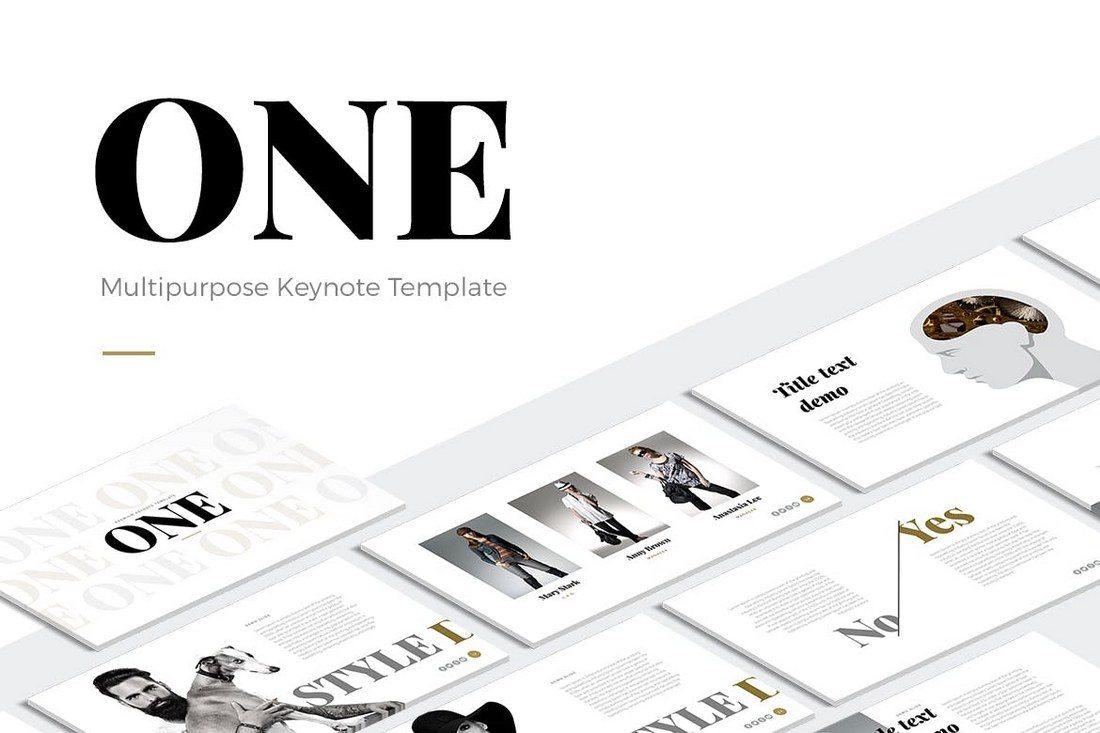 ONE-Modern-Keynote-Template 30+ Best Minimal & Creative Keynote Templates design tips