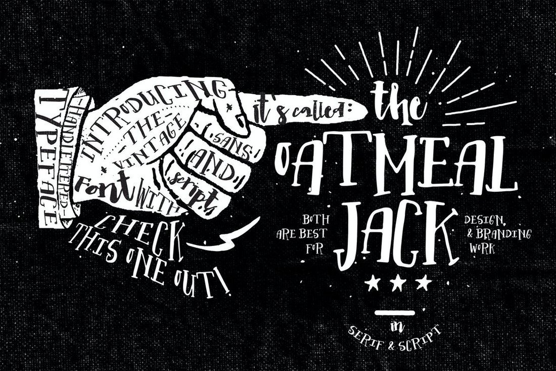 Oatmeal Jack - Hand-Lettered Decorative Font